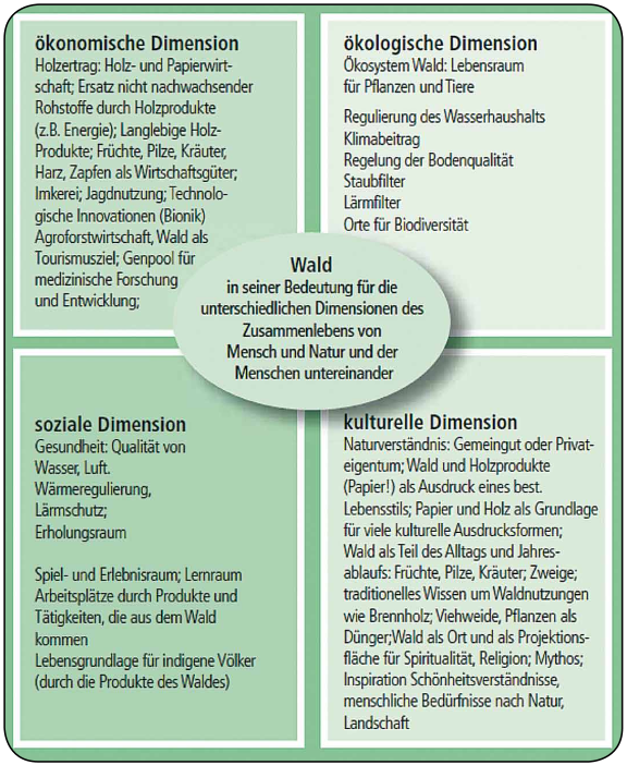 Dimensionen nachhaltiger Entwicklung am Beispiel Wald. STOLTENBERG, Ute (2010)