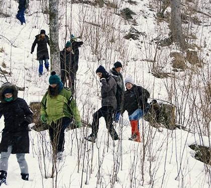 Der Tierfährte auf der Spur Exkursionsbericht Wildtiere im Winter – Spuren und Fährten