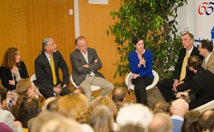 Wie sieht die Zukunft der Fakultät aus? Diskussionsrunde moderiert von Elke Ziegler