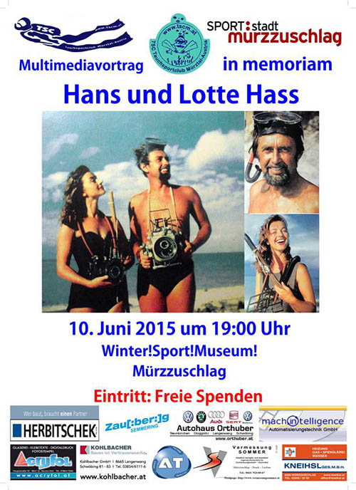 In memoriam Hans und Lotte Hass am 10. Juni 2015 in Mürzzuschlag