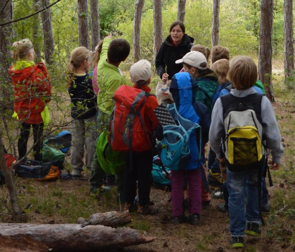 Abb. 2: Kindern die Umwelt näher bringen - für Ulrike Mittermüller der Traumjob und Berufsalltag in einem. © Ulrike Mittermüller