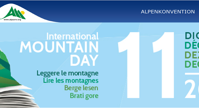 """Berge Lesen"" Festival am International Mountain Day der Alpenkonvention"