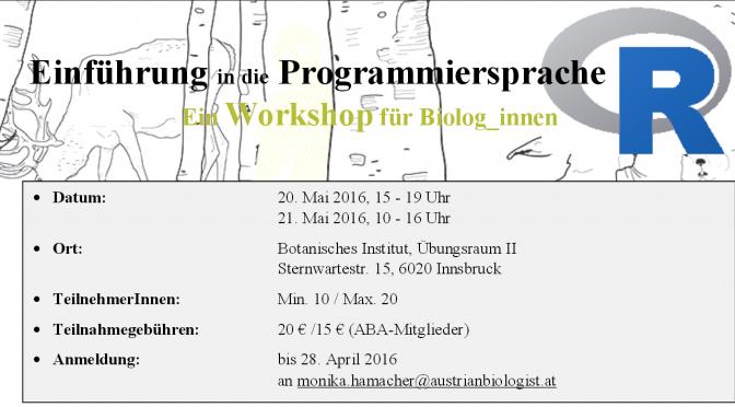 Einführung in die Programmiersprache R