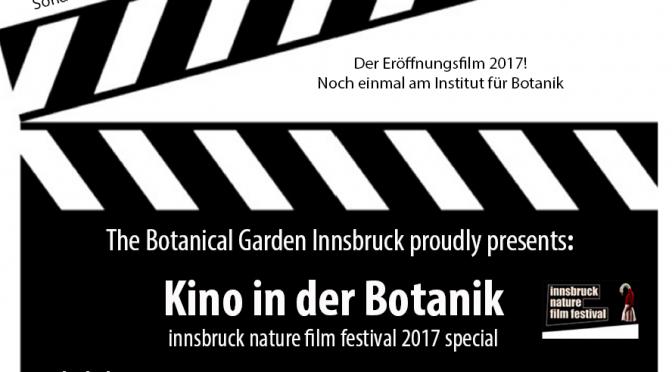 """Kino in der Botanik – Der Botanische Garten Innsbruck zeigt: """"dusk chorus"""""""